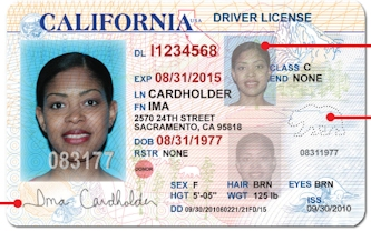 California dmv driver in license location