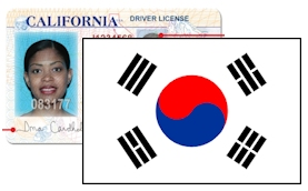 California Driver License for South Korea Apostille