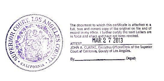 California Apostille  Example Of Divorce Papers