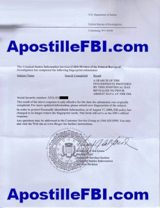 FBI Apostille Criminal Background Check