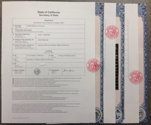 Certificate of Free Sale Apostille